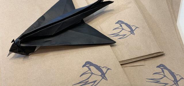 ツバメの折り紙創作してみました