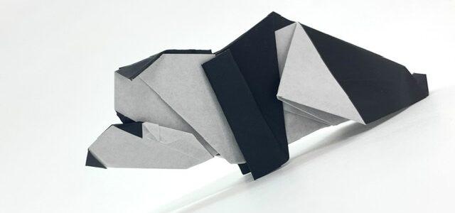 パンダの折り紙創作しました!