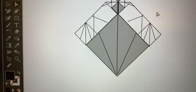 ネコの折り図制作がんばるにゃ(4)