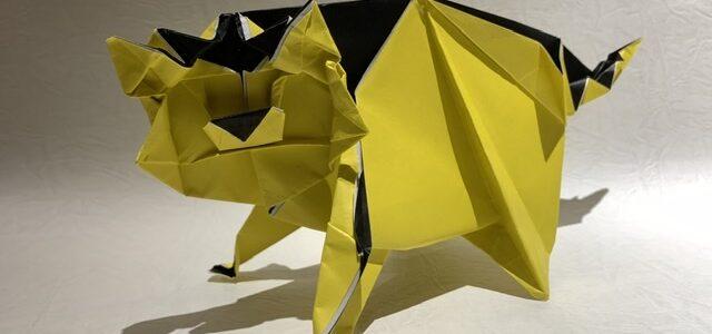 トラの折り紙創作しました!