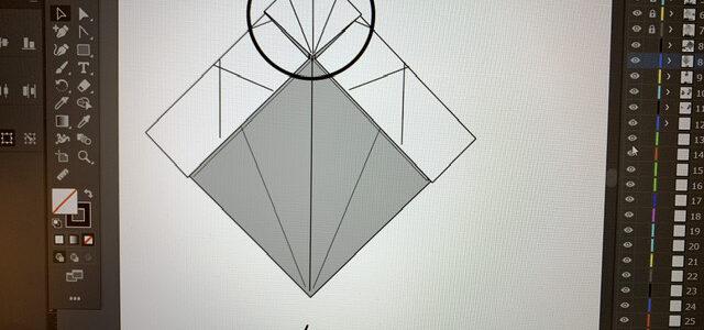 ネコの折り図制作がんばるにゃ(3)