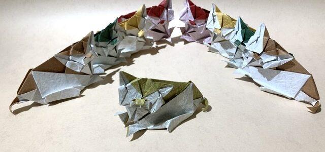 ネコの折り図制作がんばるにゃ(1)