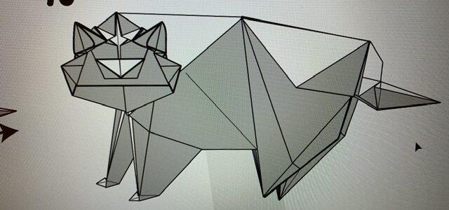 トラの折り図完成しました!