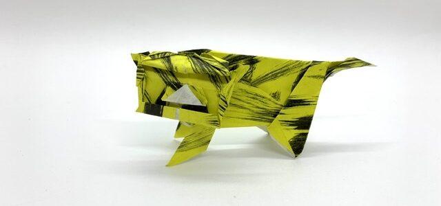 ちょっと簡単?なトラも創作してみました。
