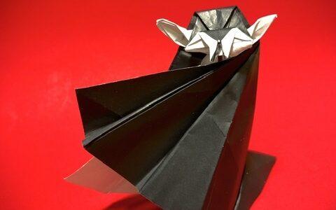 ドラキュラの折り紙創作と折り図完成しました!